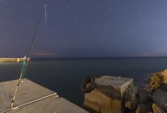 caña v2 (davin´s) Tags: vallcarca caladevallcarca pesca muelle nocturna nocturnas paisage