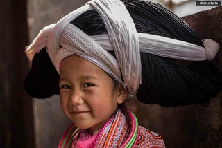 Portrait of a Miao Girl