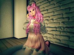 Sweet Neka (littlerowan) Tags: secondlife crossdress sissy egl lolita sweetlolita hairbow catboy neko stockings ringlets pinkhair