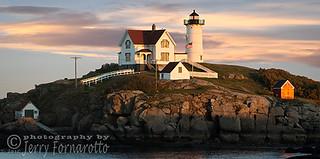 Nubble Lighthouse in Light