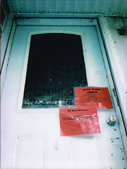 Abandoned (The Union Argus) Tags: instant instax mini 8 film door abandoned warning