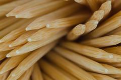 Toothpick detail/Palillos (Santini1972) Tags: macro sigma 105mm nikond5100 nikoneurope abstract pattern wooden closeup palillos mondadientes toothpick