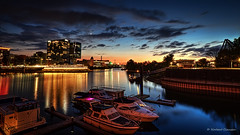 Sunset over the Harbour (Norbert Clausen) Tags: medienhafen mediaharbour sunset sonnenuntergang sky hafen thebluehour
