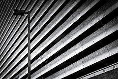 Olympic Concrete (s.W.s.) Tags: urban architecture abstract concrete building blackandwhite lines montreal city architectural nikon d3300 lightroom olympic