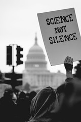 Science not Silence (ep_jhu) Tags: science protest marchforscience washington march 7d nationalmall people silence bw crowd canon signs dc uscapitol districtofcolumbia unitedstates us