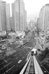 Up up away (akira.nick66) Tags: asia asian blackandwhite bnw city cityscene cityview cityscape holiday road southkorea streetphotography streetview tour tourism travel vacation sinsadong kr