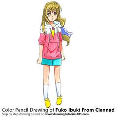 Fuko Ibuki from Clannad with Color Pencils [Time Lapse] (drawingtutorials101.com) Tags: fuko ibuki clannad visual novel japanese kuranado sketching pencil draw drawing drawings how color timelapse video speeddrawing sketch sketches