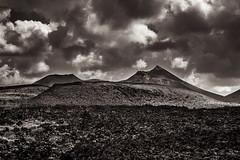 Los Volcanes, Lanzarote (Piotr_PopUp) Tags: losvolcanes lanzarote canarias canaryislands volcano volcan mountain lava landscape nature blackandwhite blackwhite bw monochrome mono