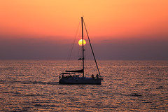 Sailing at sunset - Tel-Aviv beach (Lior. L) Tags: sailingatsunsettelavivbeach sailing sunset telaviv beach sailingatsunset telavivbeach sailboat sail boat sea seascapes silhouette travel israel
