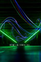 20161113-IMG_9731 (Nemesis_86) Tags: weiterstadt parkdeck parkhaus parkgarage grün licht nacht lightpainting lichter lights dunkel dunkelheit hessen
