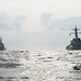 U.S. destroyer USS Fitzgerald trains with Japanes destroyer JS Choukai