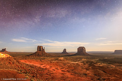 Milky Way Over Monument Valley (Samantha Decker) Tags: americansouthwest canonef1635mmf28liiusm canoneos6d milkyway monumentvalley navajonation samanthadecker uwa grandcircletour night wideangle