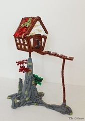 Druids Perch (2017) (~The Maestro) Tags: rock tree house druid perch rickoty lego castle goh guildsofhistorica