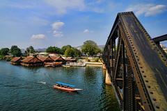 Bridge over the River Kwai (ALMONTIERI) Tags: kanchanaburi thailand kwai bridge travel river deathrailway thai longtailboat asia