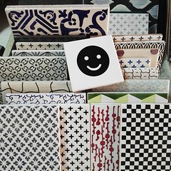 We have now also the tiles with the emoticons :-) #madeamano #tiles (madeamano) Tags: made mano madeamano interiordesign interiors design tiles lavastone lava stone etna pietra lavica italy madeinitaly
