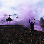 Soldier Guiding Helicopters into Landing Zone, Cambodia 1970 thumbnail