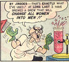 Babe 4_edited-1 (kevin63) Tags: lightner comicbook precode humor hillbilly woman men misogynist boxing potion sexchange blonde pappy madscientist internetarchive cartoon panels confusion photoshop edited babe old vintage retro antique transsexual transgender