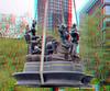 monument Marten Toonder 3D (wim hoppenbrouwers) Tags: monumentmartentoonder 3d monument martentoonder anaglyph stereo redcyan binnenrotte blaak tompoes bommel professorsickbock 2mei2017