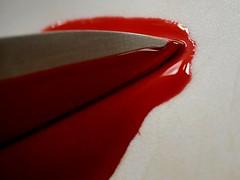 Crime (Scouse Smurf) Tags: knife blade blood macromondays macro crime