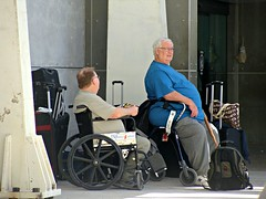 Obese Travelers (knightbefore_99) Tags: fat obese sad burgers airport puerto vallarta travel wheelchair pathetic diet american society epidemic medical condition mexico