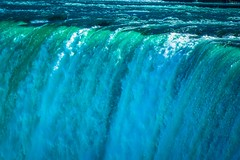 The power of the water of Niagara Falls.