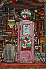 Filler Up Please (dezmicol) Tags: helengeorgia antique gaspump hdr