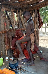 Himba village life - a Himba village in Kaokoland, Namibia. (One more shot Rog) Tags: etosha namibia africa tribe tribes tribal himba himbapeople himbatribe himbagirls himbachildren himbawomen himbavillage kaokoland onemoreshotrog africansafari safari village traditional remote africantribes