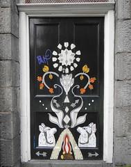 Painted Door (Ian Robin Jackson) Tags: painted door painteddoor aberdeen urbanart patterns street scotland sony zeiss april 2017 architecture building
