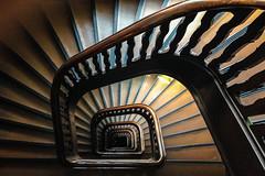 Chocoroom (Elbmaedchen) Tags: staircase stairwell stairs spirals curves treppenhaus treppenauge kontorhaus wrangelhaus hamburg