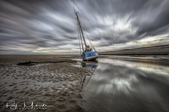"""Dramatic Sky CH45"" (Ray Mcbride Photography) Tags: boats longexposure beach"