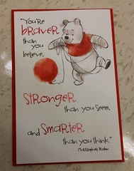 Braver than you believe, stronger than you seem, smarter than you think (Pooh and Christopher Robin) (judy_jowers) Tags: resilience self efficacy children pooh confidence perseverance mighty girl power