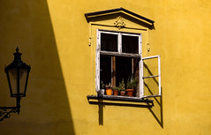 Open window (Andreas Mezger - Art Photography) Tags: window prag praha prague sun shadow contrast colourful yellow orange lamp day