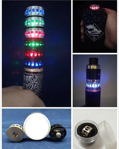 24mm illuminator led lighting decoration o ring beat sink red blue