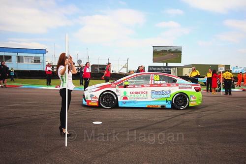 Tom Ingram on the grid at the Thruxton BTCC weekend, May 2017