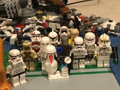 LEGO Star Wars Minifigures (splinky9000) Tags: kingston ontario star wars may the 4th be with you fourth force toys collectibles lego minifigures imperial hovertank pilots biker scout jango fett santa claus clone trooper stormtrooper luke skywalker snowtrooper snowman geonosian drone tusken raider ig88 fa4