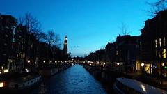 Sunset on Prinsengracht (Louisa Mac) Tags: prinsengracht westertoren sunset amsterdam netherlands holland