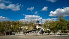 Namur comme je l'aime 🌞 (YᗩSᗰIᘉᗴ HᗴᘉS +5 400 000 thx❀) Tags: cathédrale cathédralesaintaubain church sky bluesky clouds architecture town city cityscape wonderful blue green trees hensyasmine namur belgium belgique