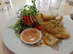 06May17 Lunch Group at The Vines Golf Club … Thai Green Prawn Dumplings w/ Salad and spicy yoghurt dipping sauce. Only $10!   Excellent meal!  #photoaday #2017pad #food