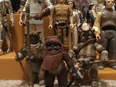 Wicket, Chief Chirpa and Logray (splinky9000) Tags: kingston ontario star wars may the 4th be with you toys action figures cantina playset ewoks wicket chief chirpa logray hasbro kenner