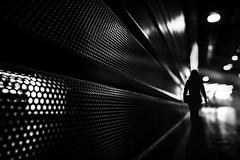...lonesome... (*ines_maria) Tags: mysterious mystery paris woman night street streetphotography urban urbanart lonely light blur city blackandwhite mono monochrome panasonic dmcgx8