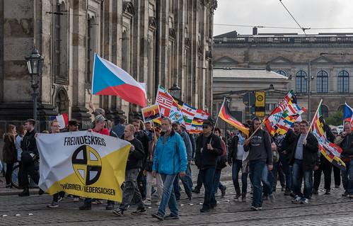 """Pro Marine Le Pen Demonstration"" (Thügida-Neonazidemo) in Dresden - 06.05.2017"