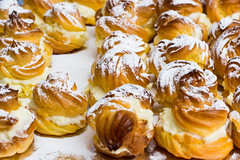 Cream puffs with powdered sugar (radebg) Tags: crispy cake dessert profiterole sweet breakfast plate snack coffee diet puff cupcake food morning princess butter muffin fairy cooling vanillaicecream eating delicious cream pastry baked