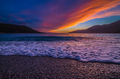 A beautiful afternoon (Vagelis Pikoulas) Tags: sea seascape landscape waves wave wavy beach sun sunset canon 6d tokina 1628mm porto germeno greece europe view sky clouds cloudy cloud colour colours color colors may 2017 spring
