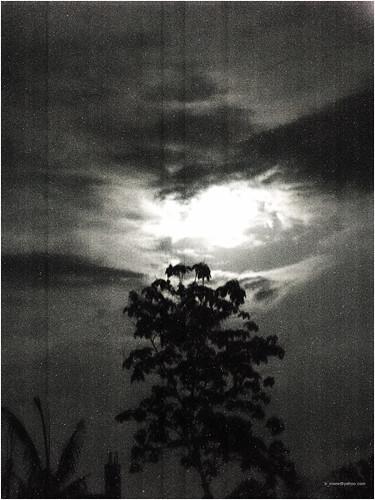full moon b&w