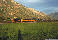 Seventies Shadow Selfie (jamesbelmont) Tags: railroad locomotive emd gp402 f9a drgw drgw5771 drgw3111 ironton drgwno17 provo passenger streamliner