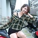 DP1U9782 by c0466art - It was a outdoor portrait activity , we invited the pretty showgirl 黃竹萱 to an old  apartment called 環南公寓 to a photoshoot there , she is not only pretty face but also good figure , especial she got tall and slim , long beautiful legs , every her pose and action was so charming and attractive , no wonder she was so popular and welcome to the internet photoshooting , thank 黃竹萱, she was so kind and did her best model job model