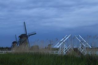 Blue hour windmills