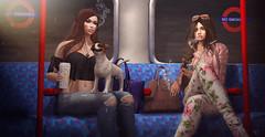 NO smoking rebels (meriluu17) Tags: enchantment foxcity gizza tube metro underground london travel journey train smoke nosmoke rebel rebels girls