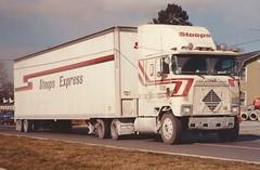 "International 9670, ""Stoops Exp"" (PAcarhauler) Tags: ih international coe cabover semi truck tractor trailer"