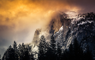 Winter Sunset on Half Dome
